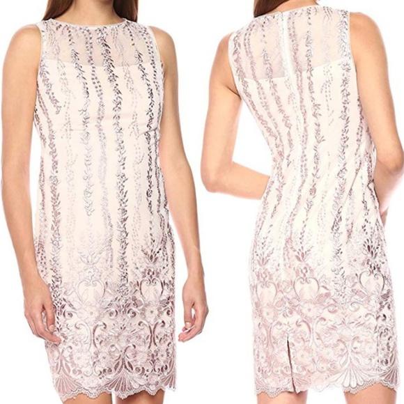 Calvin Klein Womens Sleeveless Sequin Sheath Dress Nwt